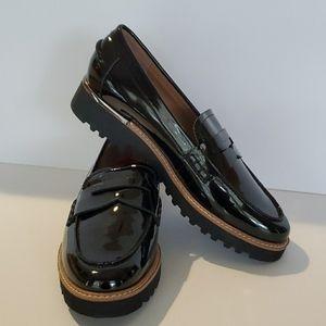 Franco Sarto Patent Faux Loafers